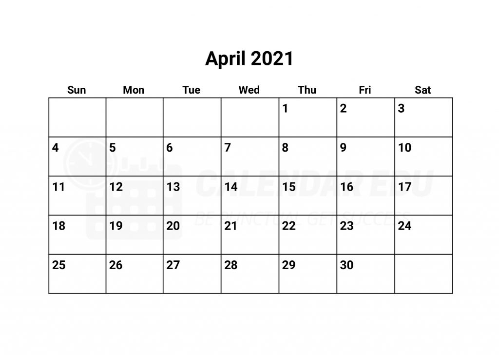 Best Printable education April 2021 calendars