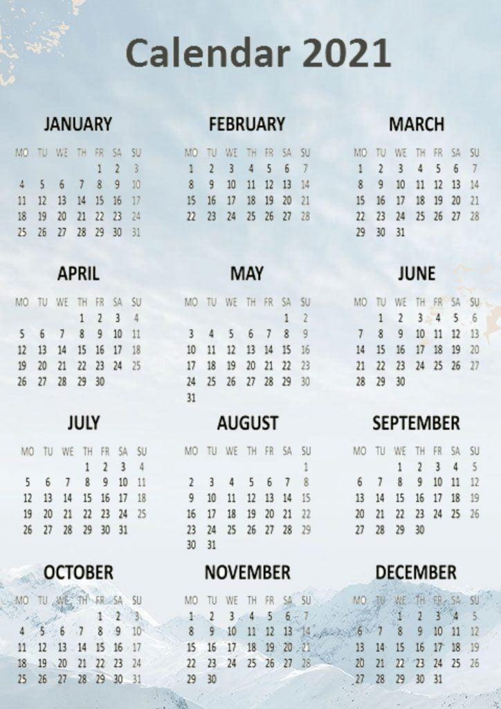 Best 2021 Calendars Printable