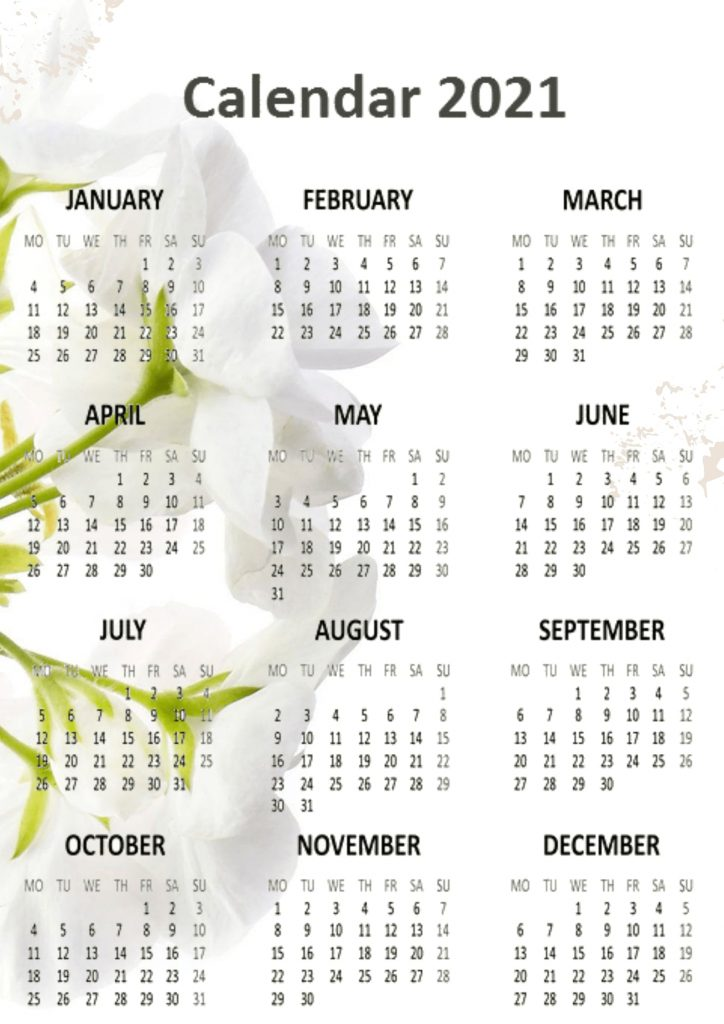 Best 2021 Calendars Printable templates Download