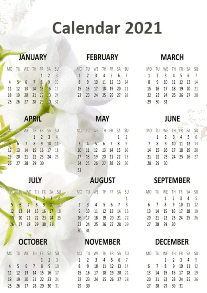 Best 2021 Calendars Printable templates Download