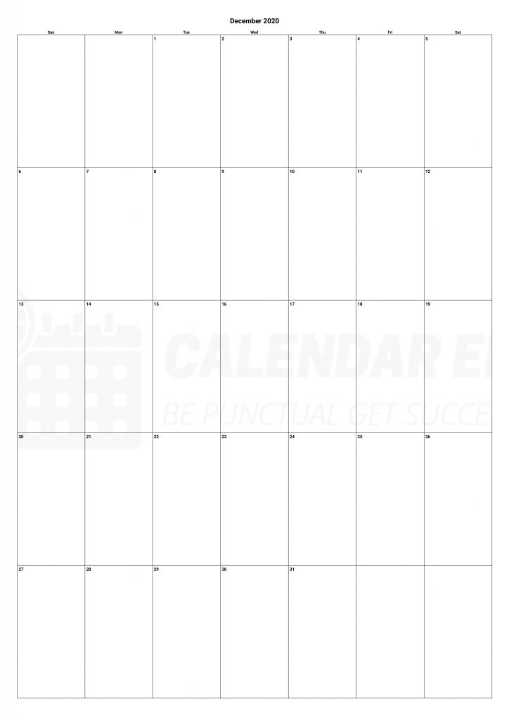 Best December 2020 calendars printable download