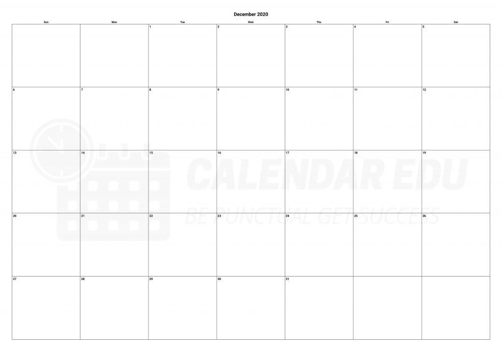 Best December 2020 calendars Printable templates download