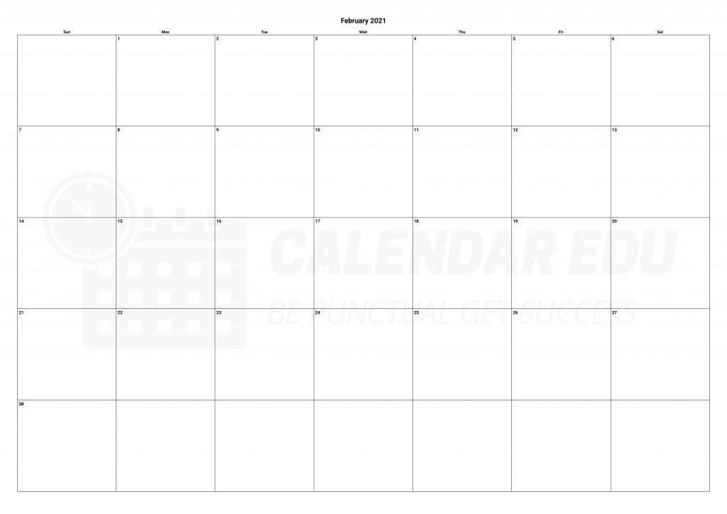 Top February 2021 calendars Printable for Free