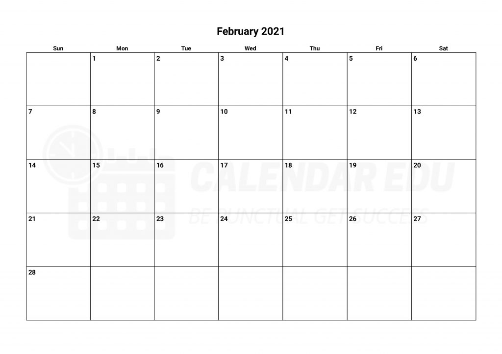 Best February 2021 calendars printable templates download