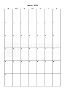 Best January 2021 calendars to print and download