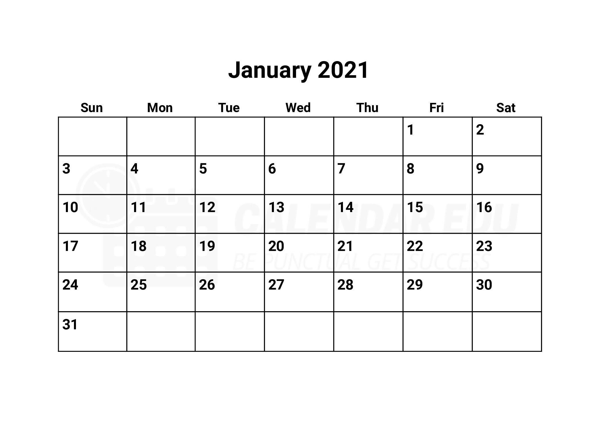 Best January 2021 calendars printable template to download