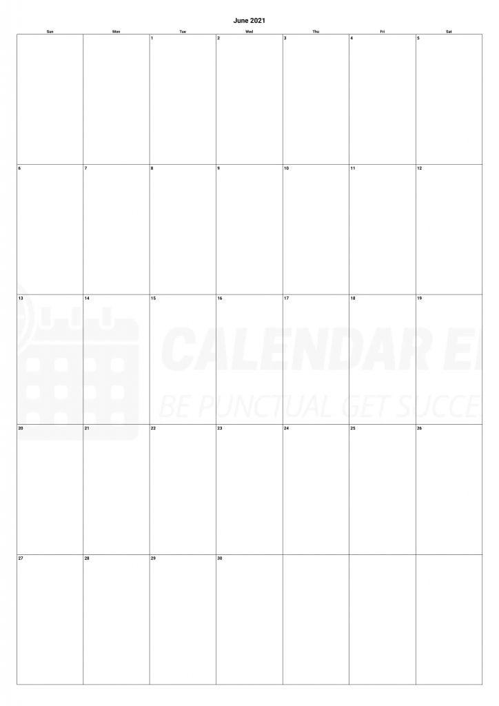 Best June 2021 calendars Printable download