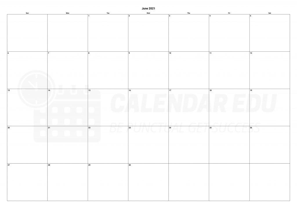 Top blank June 2021 calendars printable download