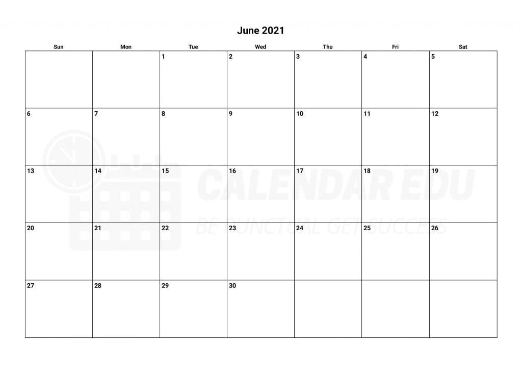 Free June 2021 calendars printable templates downloads