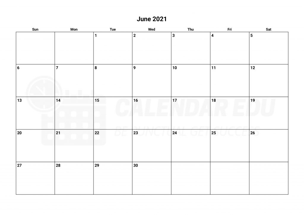 Best June 2021 calendars templates Printable download