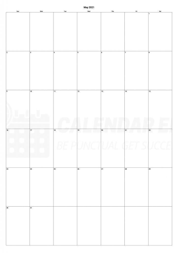May 2021 Calendars Printable