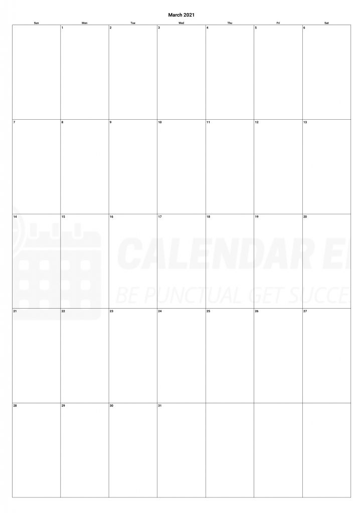 Best march 2021 calendars printable templates download
