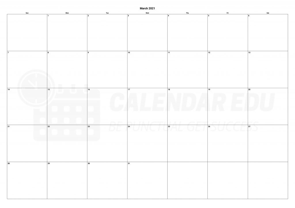 Top march 2021 calendars printable template download for free