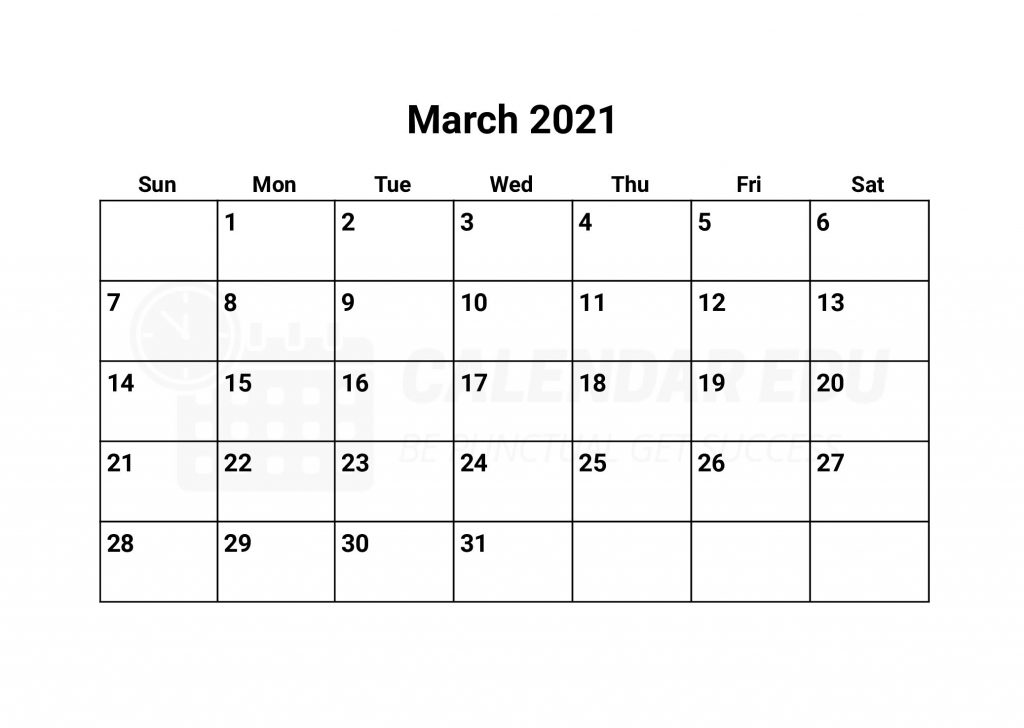 Best March Printable calendar templates to download for free
