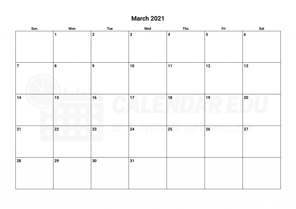 march 2021 calendars Printable download now